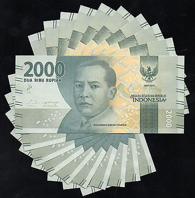 Indonesia 2000 Rupiah 2016 NEW Banknote x 10 NOTES