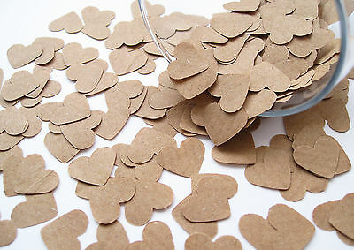 Kraft Paper Confetti Hearts - Wedding, Party Favours, Vintage Rustic Heart
