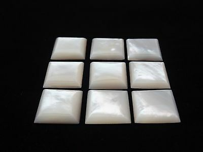 Shell Natural Mother Of Pearl 18x18mm Square Cabochon Shape Loose Stones