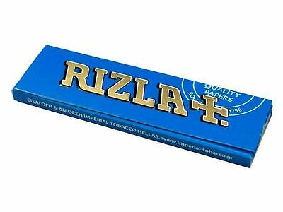 Blue Rizla Rolling papers Standard size 60sheets/Booklet (1/2/5/10/20/50/100)pcs