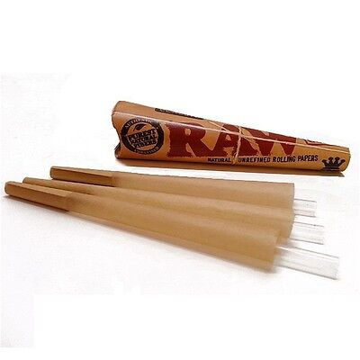 RAW Cone Pre-Rolled King Size Rolling paper 3 Cones Per Pack(sample/1/2/6/12)pcs