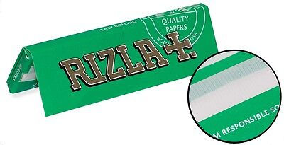 RIZLA Green Rolling papers Standard size made in EU (1/3/5/20/40/100)pcs