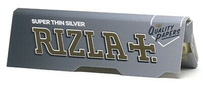 Rizla Silver Rolling Papers RICE PAPER Standard size (2/5/10/20/50/100)pcs
