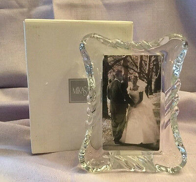 "MIKASA WX240/576 Twist Crystal 3""x5"" Picture Frame"