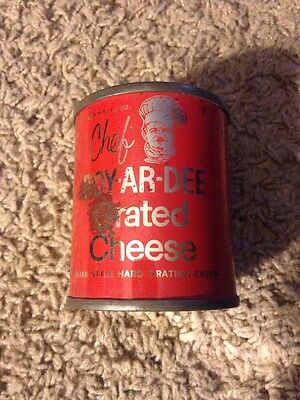 Vintage Chef BOY-AR-DEE grated cheese can
