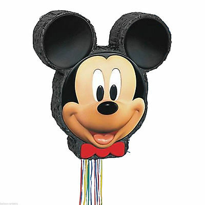 """16"""" Mickey Mouse Club House Pinata Party Sweets Kids Game Pull String"""