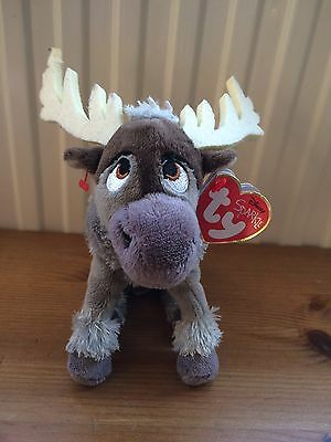 "TY Disney Sparkle * SVEN *  FROZEN With Sound  8"" Plush Soft Toy With Tag"