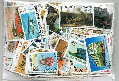 300 Transportation Cars Trucks Boats Planes All Different Stamp Collection Lot