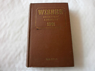 Wisden 1941 ORIGINAL HARDBACK + Signed letter from Editor