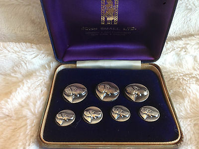 London Badge and Button Co Set of 7 Vintage Dog Head Buttons