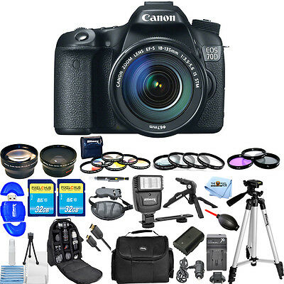 Canon EOS 70D DSLR Camera with 18-135mm Lens!! ALL YOU NEED BUNDLE BRAND NEW!!