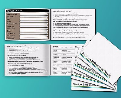 6 x Vehicle Service Book Car Service History Maintenance Record Log Replacement.