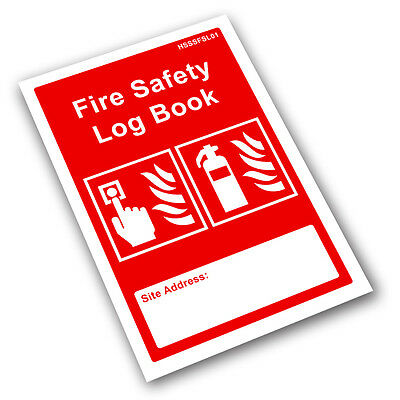 Fire Safety Log Book - Business & Landlord - Checks, Tests & Maintenance Record