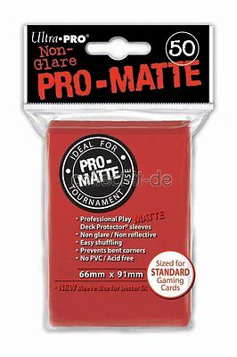 Ultra Pro - Non-Glare Pro-Matte Sleeves - 50 stk. - Red