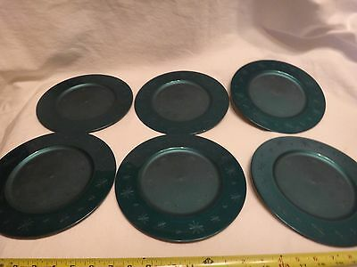 Tupperware Round 9in. Holiday Plates Set of 6