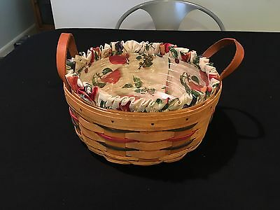 Longaberger 1998 Darning Basket Combo with Liner & Protector