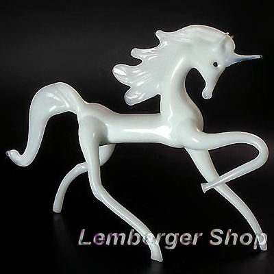 Glass figurine unicorn made of colored glass. Lenght 14 cm / 5.6 inch!