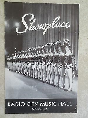 Vintage~Radio City Music Hall~SHOWPLACE Program / Playbill~1962 Cary Grant D Day