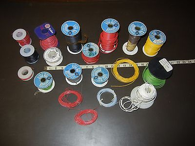 hookup wire lot of 15 spools alpha corporation #24 #20 #18 #16 #12 AWG rolls