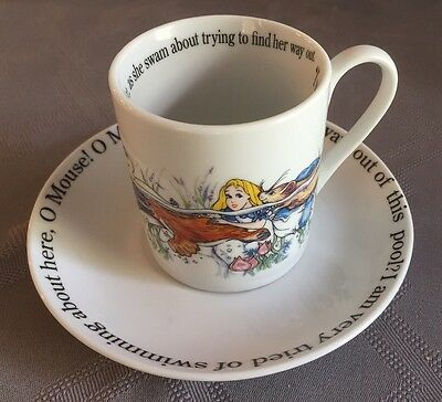 "Cardrew Design Alice In Wonderland 6oz Cup And Saucer ""Alice Is Swimming"""