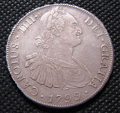 Bolivia 1799 8 Reales VF/XF Silver Crown