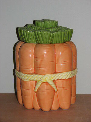 Bunch Of Carrots Tied With a Bow Cookie Jar Excellent!