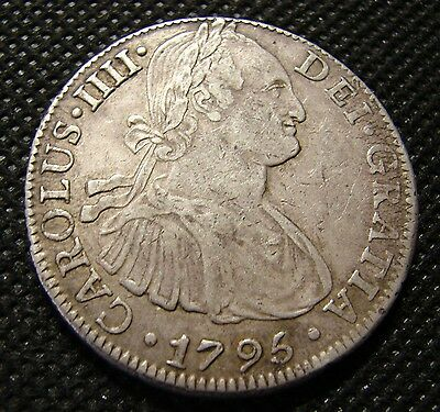 Mexico 1795 8 Reales Silver Crown XF