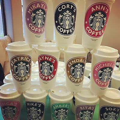 Starbucks Cup Reusable Personalized Coffee Cup tumbler mug custom name 16oz