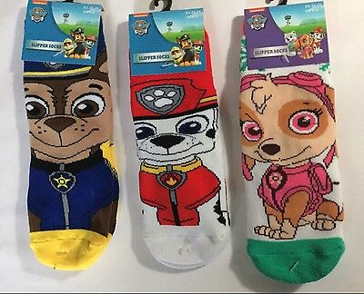 Boys Slipper Socks with Paw Patrol detail.
