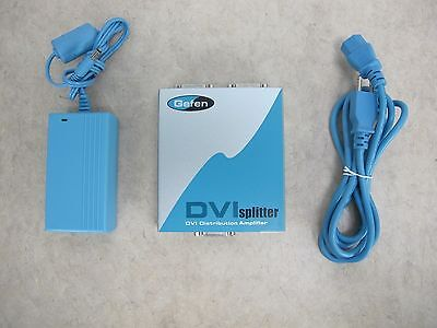 Gefen DVI Splitter DVI Distribution Amplifier 1x2 Repeater EXT-DVI-144
