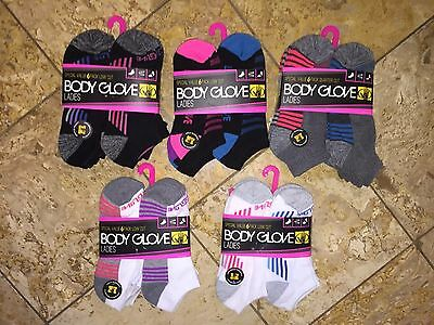 NWT Body Glove Ladies 6 Pairs Pack Women's Low Cut Athletic Ankle Socks