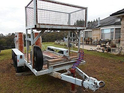 Plant Trailer Heavy Duty Made By [Rogers] Tandem Pig Trailer.