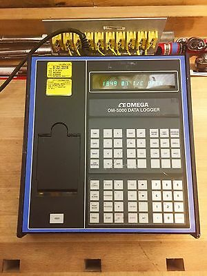 Omega Om-5000 Programable 10 Channel Thermocouple Data Logger