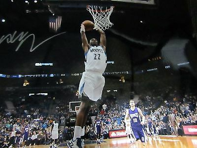 Andrew Wiggins Autographed 16 X 20  Action  Photograph Jsa Witnessed Coa