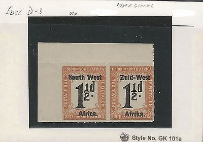 South West Africa 1925 Postage Due Stamps Group I, 1.5d. MNH