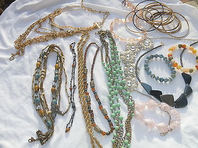 Necklaces Bracelets J Crew Pd Avon Multistrand Chains Beads Bangles Stretch