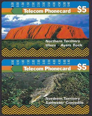 *PHONECARDS.USED.NORTHERN TERRITORY.SET of TWO.*