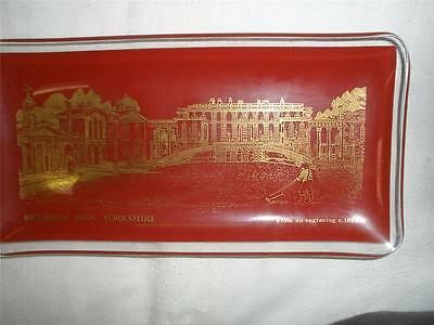 Collectable Small Glass Dish Bramham Park Yorkshire England