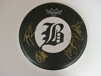 Beartooth Band Autographed Signed Drumhead 1 With Signing Picture Proof