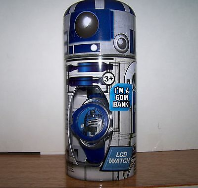 Star Wars Child's Watch / Coin Bank- R2-D2- New