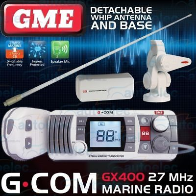 Gme Gx400 Boat Marine 27Mhz Radio Waterproof Cb Two Way Kit + Antenna + Base