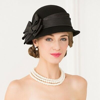 New Ladies 100% wool Hat wedding races ascot Occasion Formal Mother Of The Bride