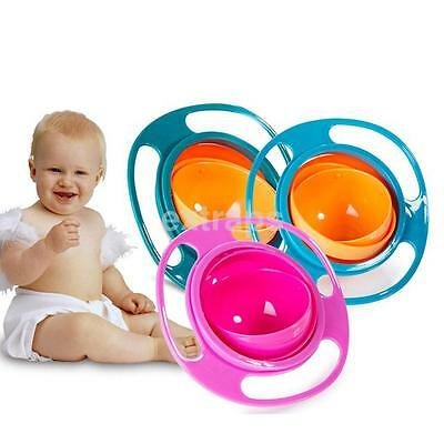 360 Degree Rotating Bowl Children's No Spill Bowl Balance Baby Snack Bowl UK