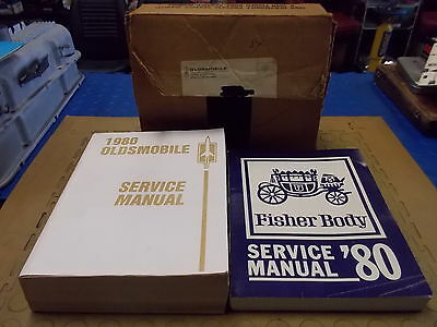 1980 Oldsmobile Service Manual & Fisher Body Manual with Original Box