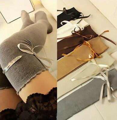 1 Pair Girl Stocking Fashion Over Women Thigh High The Knee Lady Autumn Socks