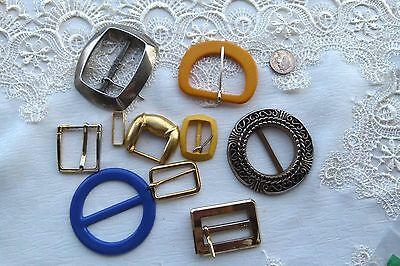Jewellery  Group Of 8 Mixed Vintage Buckles 620