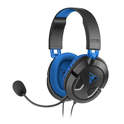 Turtle Beach Ear Force 60P Recon Stereo GAming Headset Black For Sony PS4 New Uk