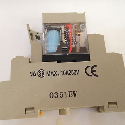Omron G2R-1-SN (S) Relay 110VDC SPDT COMPLETE WITH BASE see rating plate pic 2