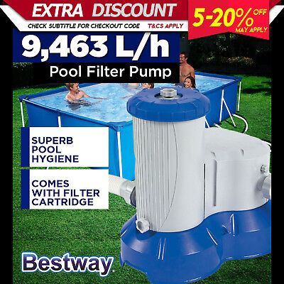 Bestway Flowclear 9463L Above Ground Swimming Pool Water Cleaner Filter Pump