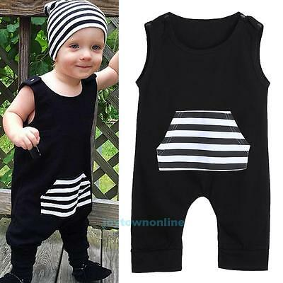 Toddler Infant Baby Boy Girl Kids Summer Romper Jumpsuit Bodysuit Clothes Outfit